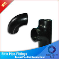 ansi b16.9 seamless sch40 steel corner pipe fittings