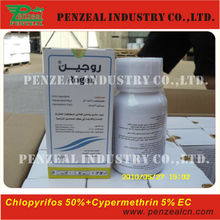 Cypermethrin 5%+Chlorpyrifos 50% EC, Powerful insecticide