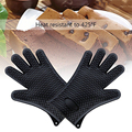 Kitchen Heat Resistant Thick Silicone Grill Gloves BBQ Grill BBQ Tool Cooking Mitts Baking Glove