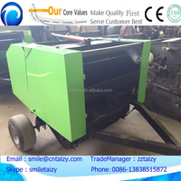 hay baler rice straw bagging machine corn silage compressing machine