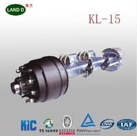 Chinese Manufacture KIC Standard Square Beam 10 bolt wheel hub trailer Axle