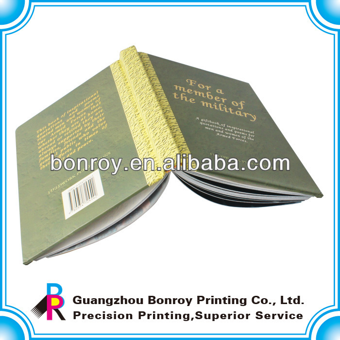 Thick hardcover book With Gold Foil Title