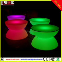 colors changing LED light up coffee table with glass top