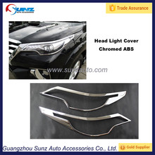Toyota Fortuner 2016 Chrome Headlamp/Light cover/Bezel For Toyota Fortuner Accessories Car Decoration