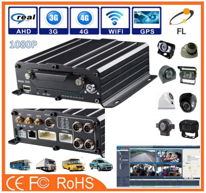 AHD 720P/960P/1080P 8ch free client software H.264 mobile dvr with gps 3g wifi