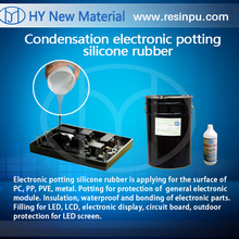 Silicone rubber for adhesive potting electronic