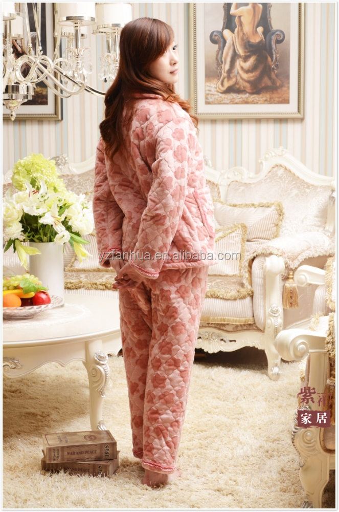 Sexy winter couple footed pajamas Set from alibaba China