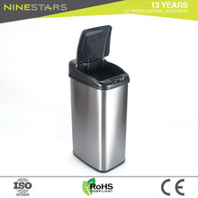 Manufacture household commercial stainless steel sensor waste bin