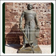 Life Size Outdoor Casting Bronze Ancient Soldier Sculpture with Sword