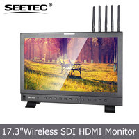 17.3 inch Studio Broadcast high resolution built-in 300M HD video receiver wireless hdmi monitor