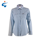 New fashionable custom made nice long sleeve washed denim womens clothes