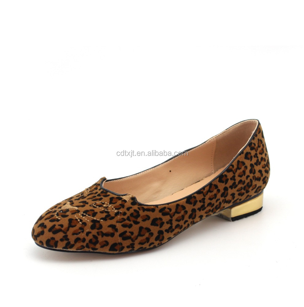 Sexy retro Leopard women loafer shoes ladies flat casual shoes with tiger