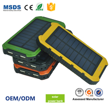 Power Bank 4000Mah,Mobile Cell Phone Solar Charger,Waterproof Solar Power Bank Charger PB122