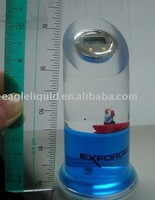 Plastic clock with floater inside, Liquid clock, water clock