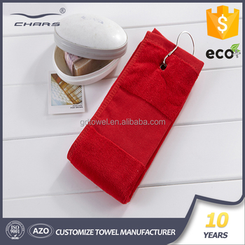wholesale embroidery blank printed logo personalized cool custom hook customized microfiber golf towel for sale