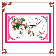 NKF Wild rose clock dial dimension cross stitch