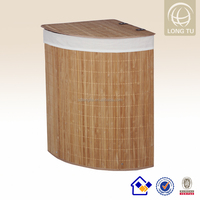 corner Bamboo Laundry Basket foldable wholesale laundry bags 35*35*60