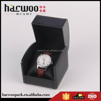 Black Single Watch Leatherette Box