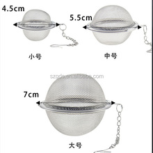 Stainless Steel Mesh Tea Ball Strainer With Cleaning Brush In Mug Tea Infuser