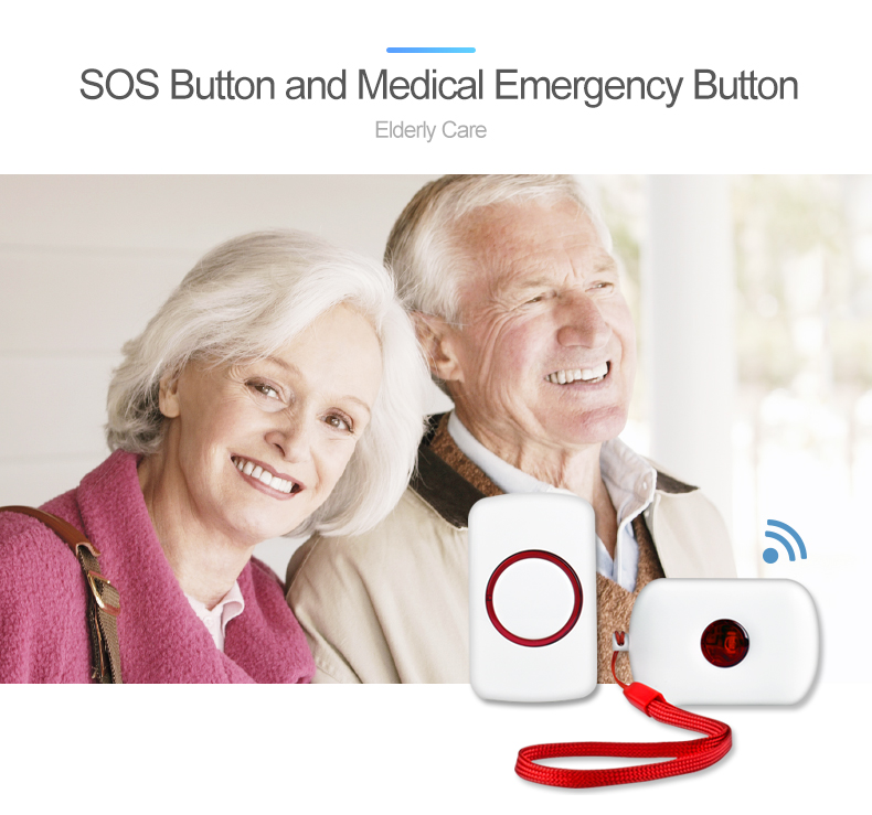 Shenzhen New Style Wholesales alarm system with US EU Plug  SOS Elderly Panic Button