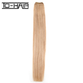 strict quality control no smell light color human spring curly clip in hair extension