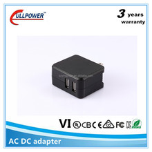 5v2.1a mobile phone charger dual wall charger for phone tablet