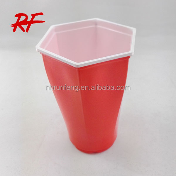 Disposable hexagon cup/hexagon plastic cup