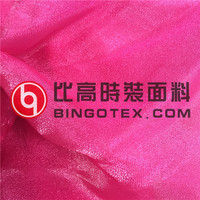 nylon polyester blend shiny organza fabric for dress
