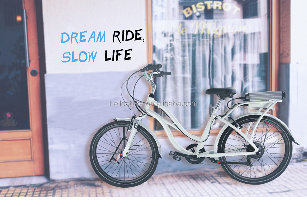 white / black frame 26 inch unfolding china city ebike