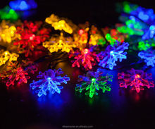 christmas plastic snowflake lights flashing LED hanging snowflake light