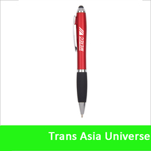 Hot Selling Popular logo stylus touch led laser pen red
