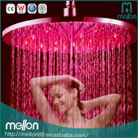 Top shower 16inch ceiling rain 304 ss rainfall high flow shower head with led