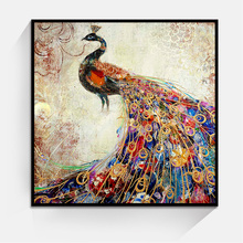 JC Fashion Home Decoration Bedroom Peacock Canvas Art Painting For Living Room ANI-1b