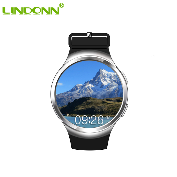 Luxury Stainless Steel Wifi 4G 3G Smart Watch Android Waterproof IP67 MTK6580 <strong>Quad</strong> Core Smartwatch
