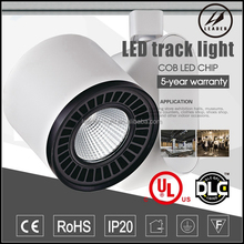 High efficiency 3 pin 35w led cob track light for clothes shop
