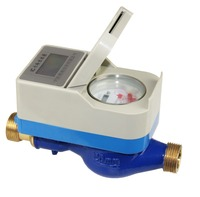 "Prepaid brass touchless water meter 1/2"" to 1""( 1pc meter, 1pc card)"