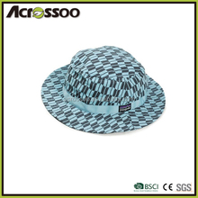 Fashion all season all over print bucket hat with custom tag