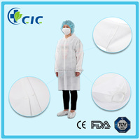 Cheap price custom anti static lab coats white color