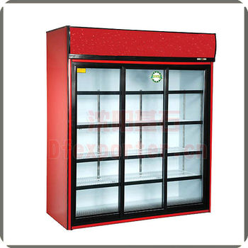 Vertical display cabinet