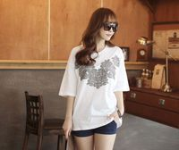 Wholesale Polyester Cotton T-Shirt White Tshirt Printed T Shirt with New Patterns