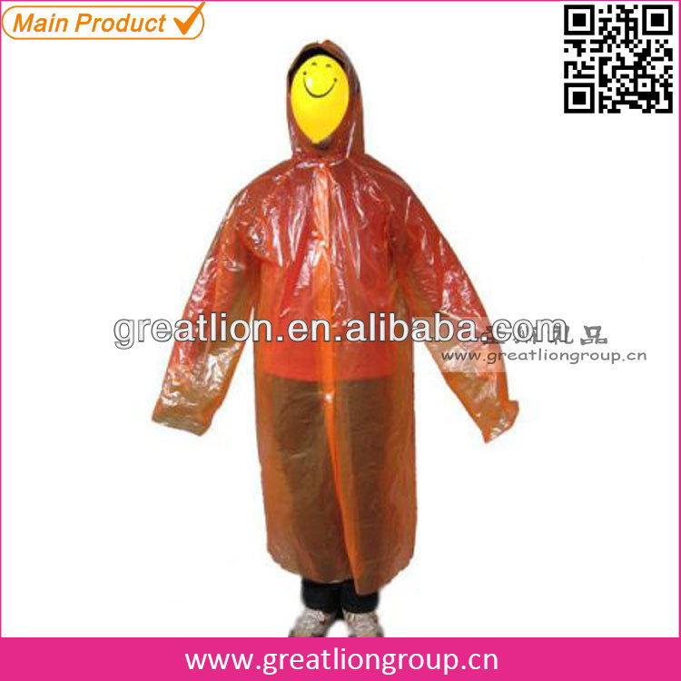 Women fashionable long pvc rain poncho