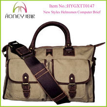Good Quality New Styles Helmsmen Canvas Laptop Bag for Wholesales
