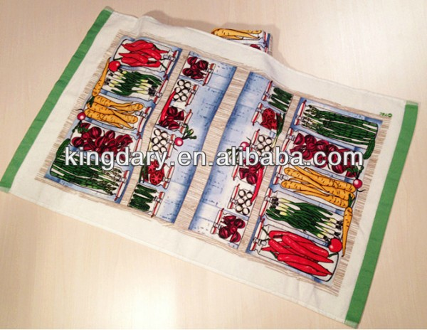cotton custom printed tea towel bulk