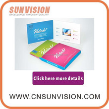 multi-media booklet integrated personalized printed paper and effectiveness video screen Video Flyer
