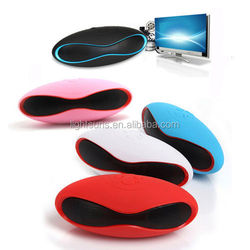 Mini Portable Wireless Rugby Football Stereo speaker with MIC TF AUX USB FM Car
