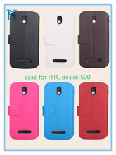 Stand Wallet case for HTC Desire 500 Protective Case with Kickstand