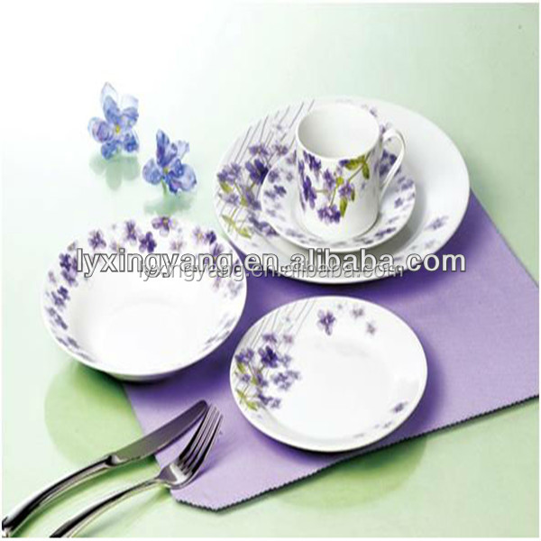 purple porcelain dinnerware sets,china dinnerware set,dinnerware set porcelain