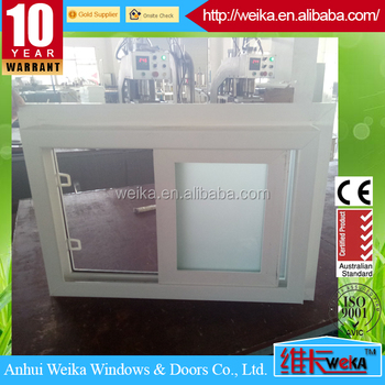 single glass/double glass white color UPVC sliding window