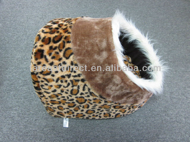 Cat Kitten Cave Pet Bed House Leaopard Style Igloo Sleeping Pet Puppy Dog New