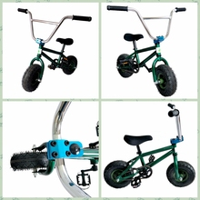 High-end production custom rocker stunt halfpipe bicycle 10 inch mini bmx bike